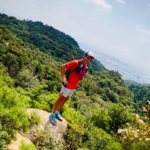 六甲の風吹岩崩れる…!猛暑の六甲山トレイルラン