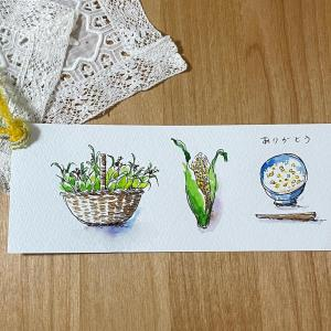 時短スケッチで描いたカードが届きました。