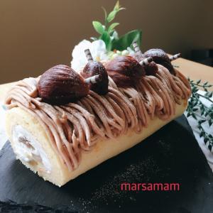 新メニュー☆モンブランロールケーキ