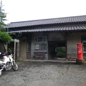 KLE400整備後試運転ツーリング 油須原駅