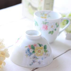 花柄のお茶碗とカップで癒されて~ポーセラーツ
