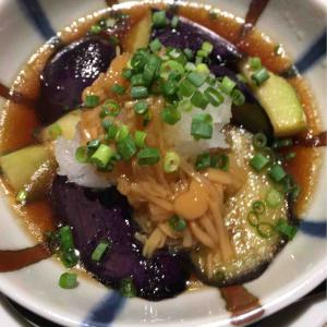 秋茄子と秋刀魚と秋鮭のちブロスタ