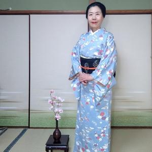 お出掛け想定キモノで京都哲学の道へ