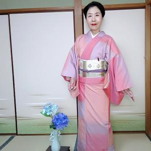 お出掛け想定キモノで京都散策へ