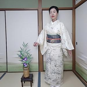 想定キモノで大徳寺の月釜へ