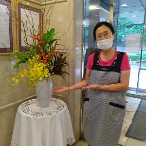 生け花ボランティア  敬老祝賀式 2021