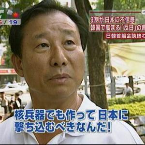 日本と北朝鮮が戦争した場合、韓国人の45.5%が北朝鮮を支援すると回答