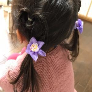 女子の親と、女子の髪型