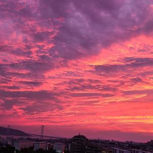 ベランダ~明石海峡大橋の夕焼け