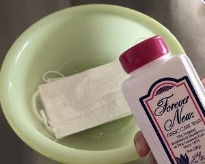 密かな楽しみ、マスクの手洗い♪