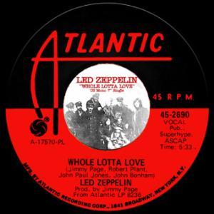 "Whole Lotta Love US Mono 7"" Single (Gift CDR)"