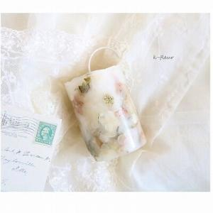 花キャンドル シャビーピンク