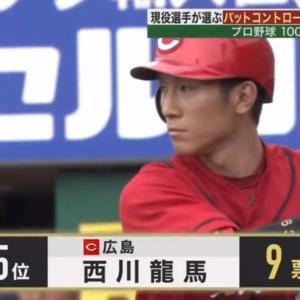 2019年プロ野球100人分の1位 カープ西川龍馬が「バットコントロール部門」5位にランクイン!