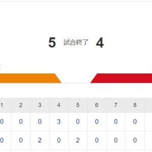 【カープ試合結果】巨5x-4広[2020/9/22] 遠藤5回4失点降板 4表長野3ラン&9表松山同点打で追いつくも、9裏フランスア牽制逸れ進塁許しサヨナラ打浴びる カープ3連敗