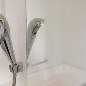 セリア耐水ペーパーでお風呂の鏡を磨いてからのぉ〜カインズ撥水♡