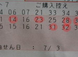 ロト7 第116回結果 有終の美?5等で締め…