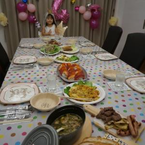 そら4歳誕生日パーティー(記録)