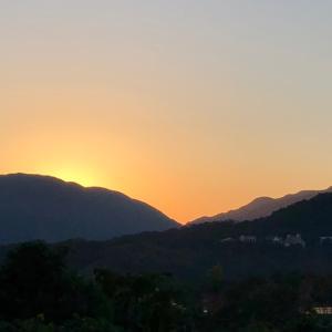 金剛山からの朝日