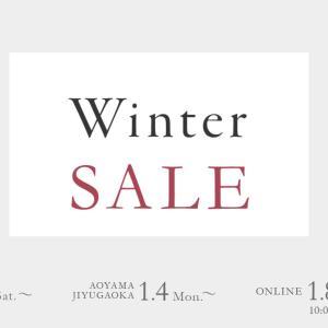冬のセールがオンラインショップで始まりました。