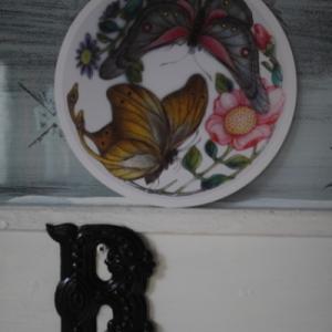 絵手紙交換 〜絵はがきも好きなんです 花と蝶 & 針ねずみ〜