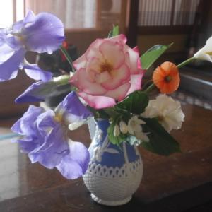 小さな花束で春をを楽しむ 〜アイリスと〜