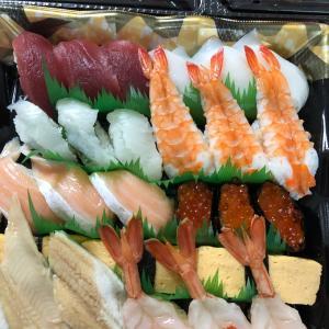 昨夜は、寿司パ(オータムさんの推定摂取カロリーと糖質がヤバイ。)