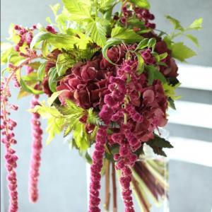 紫陽花とアマランサスの大人ブーケ