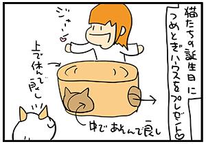 楕円形の猫ベッド。