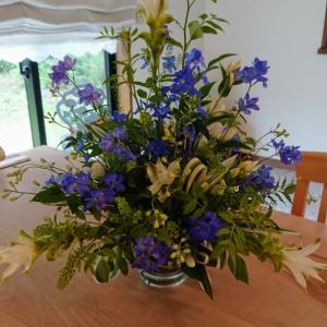 青い花グランブルーで爽やかに