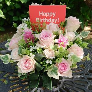 バラのお花でお誕生日の花
