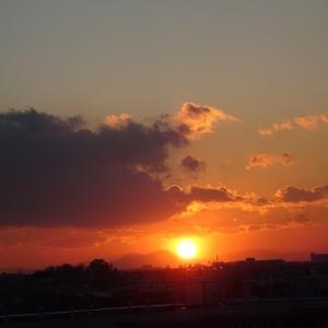 日が沈む・・・