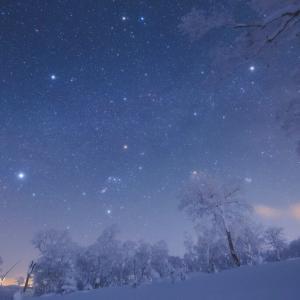 樹氷と冬のダイヤモンド