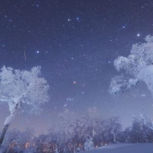 樹氷と流星