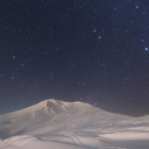 旭岳冬の星景