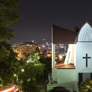 函館聖ヨハネ教会夜景