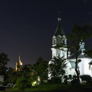 函館ハリストス正教会夜景