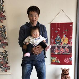 娘の初節句記念「紅型ひな祭り」 【沖縄 初節句・出産祝い】
