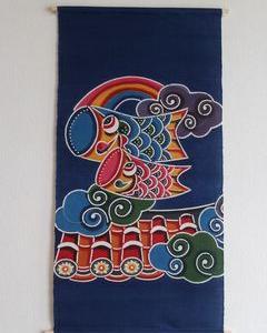 【お客様の声】 紅型こいのぼり!色鮮やかな沖縄らしいこいのぼり!初節句・沖縄らしい出産祝いに!