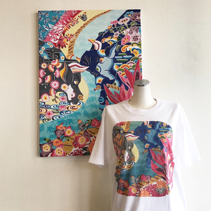 闘牛Tシャツ!UNIQLO UTme!城紅型デザインUT発売開始!来月は全島闘牛大会!