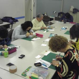 NHK文化センター名古屋教室『消しゴムはんこの世界』初彫りレッスンレポートです!