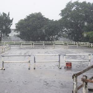 雨にも負けず、ジュニアレッスン&学校見学・体験説明会開催!