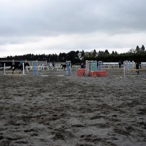 来週末は2020年最後の競技会!馬の学校で競技会へ向けたレッスン♪