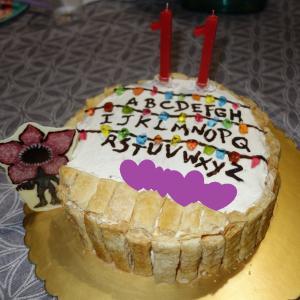 自分が遊びながら作る誕生日ケーキ(笑)