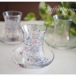 ガラスのカップ&ソーサーが可愛い♡