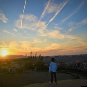 秋の日の夕空 ~木津川市州見台