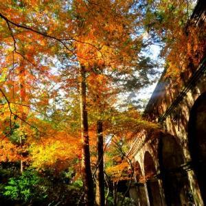 南禅寺・水路閣の紅葉  ① ~レンガのアーチ