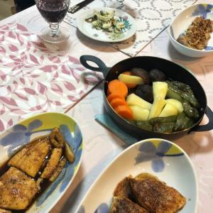 今日のくうさん & お魚ステーキ三種