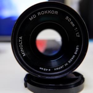 α7ⅢのためにMinolta MD ROKKOR 50mm F1.7購入