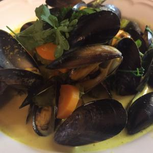 ムール貝のカレー風味