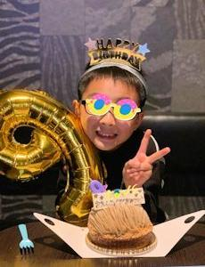 次男、9歳のお誕生日。